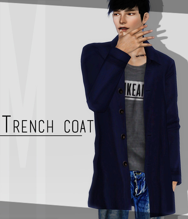 【LittleM】TS3_Trench Coat_M by LittleM - SimsDay
