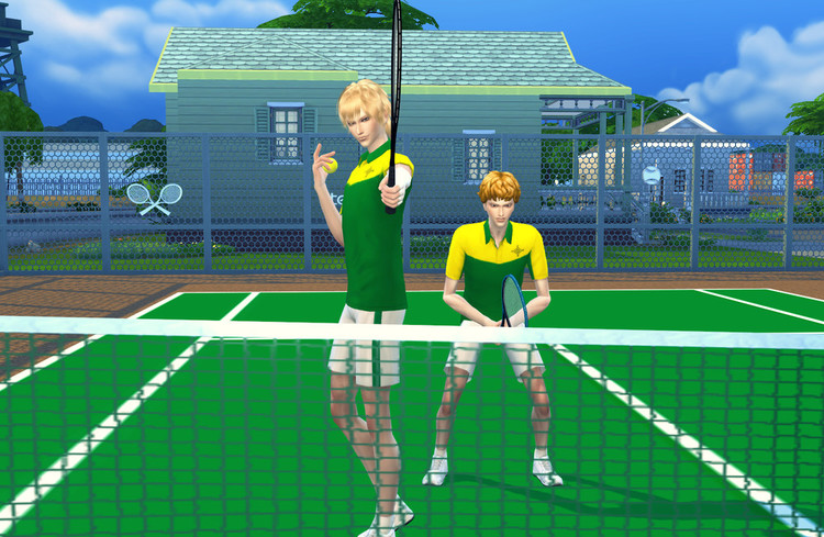 Haneco Ts4 Tennis Set By Haneco410 Simsday