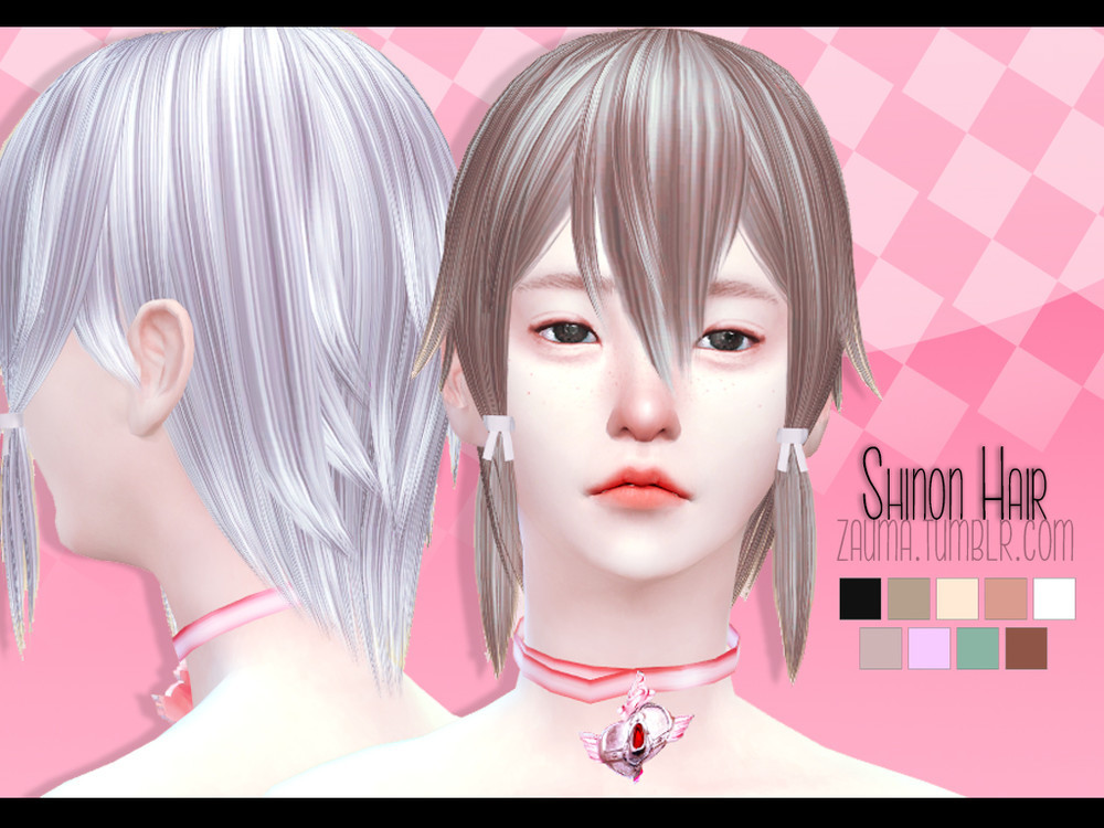 #TS4 Shinon Hair F. By Simsday