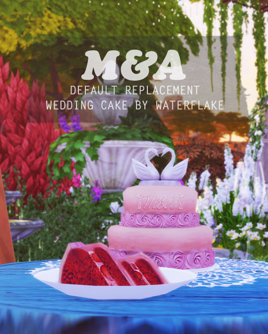 M&A Wedding Cake [Default Replacement] By Simsday